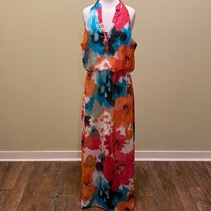 Bisou Bisou Michele Bohbot Dress 12 Tropical Maxi